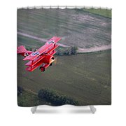 A Replica Fokker Dr. I, A Red Triplane Shower Curtain