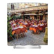 A Restaurant In Sarlat France Shower Curtain