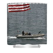 A Rigid Hull Inflatable Boat Shower Curtain