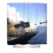 A Rim-7 Sea Sparrow Missile Launches Shower Curtain