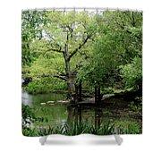 A River Runs Through Central Park  Shower Curtain