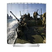 A Riverine Squadron Conducts Security Shower Curtain