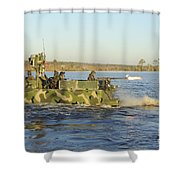 A Riverine Squadron Maneuvers Shower Curtain