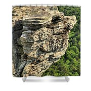 A Rocky Grin Shower Curtain