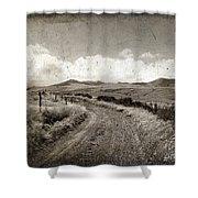 A Rural Path In Auvergne. France Shower Curtain