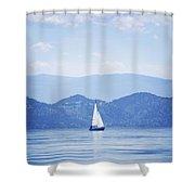 A Sailboat Shower Curtain