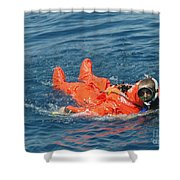 A Sailor Rescued By A Diver Shower Curtain