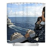 A Sailor Stands Forward Lookout Watch Shower Curtain