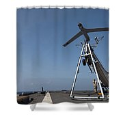 A Scan Eagle Unmanned Aerial Vehicle Shower Curtain