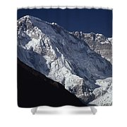 A Scenic View Of A Steep Icy Shower Curtain