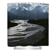 A Scenic View Of The Matanuska River Shower Curtain