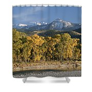 A Scenic View Of The Yellowstone River Shower Curtain