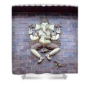 A Sculpture Of The Hindu God Ganesha Shower Curtain
