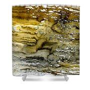A Sea Of Raw Sienna Shower Curtain