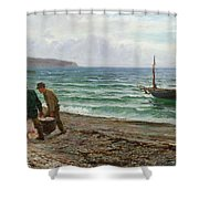A Sea View Shower Curtain by Colin Hunter