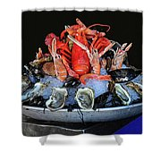 A Seafood Orgy Shower Curtain