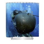 A Seal Delivery Vehicle Team Member Shower Curtain by Stocktrek Images