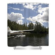 A Seaplane Taking Off From Vancouver Shower Curtain