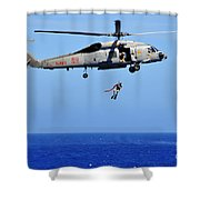 A Search And Rescue Swimmer Is Lowered Shower Curtain