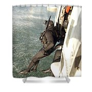 A Search And Rescue Swimmer Student Shower Curtain