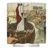 A Sermon  Shower Curtain by English School