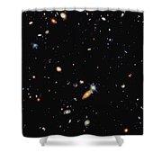 A Shot Of A Deep Space Photograph Shower Curtain