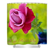 A Single Rose II Mother's Day Card Shower Curtain