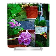 A Sip Of Wine Shower Curtain by Amanda Moore