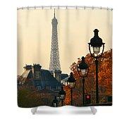 A Slice Of Paris Shower Curtain