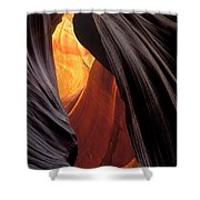 A Slot Canyon View Shower Curtain