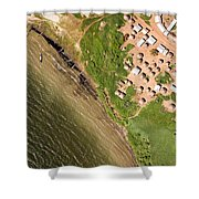 A Small Town On The Northern Shore Shower Curtain