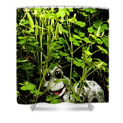 A Smile In A Clover Forest Shower Curtain