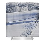 A Snowy Field Shower Curtain