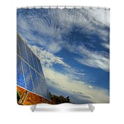 A Solar Panel In The Desert Of South Shower Curtain