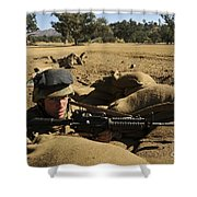 A Soldier Mans His Position At Fort Shower Curtain