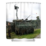 A Soldier Of The Belgian Army Shower Curtain