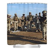 A Soldier Teaches How To Properly Shower Curtain by Stocktrek Images