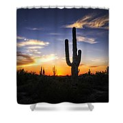 A Sonoran Sunset  Shower Curtain