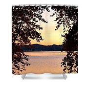 A Soothing Sunset Shower Curtain