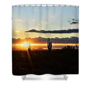 A Southwest Morning  Shower Curtain