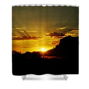 A Southwest Sunrise  Shower Curtain