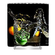 A Splash In The Glass Shower Curtain