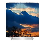 A Spring Sunset Shower Curtain
