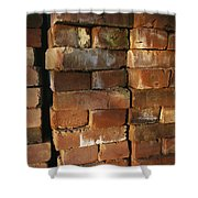 A Stack Of Bricks Shower Curtain