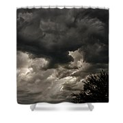 A Storm Is Born Shower Curtain