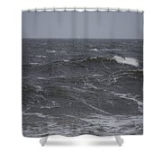 A Storm Lashed Hudsons Bay In Autumn Shower Curtain