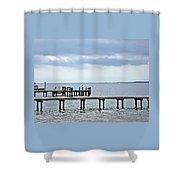 A Stormy Day On The Pamlico River Shower Curtain