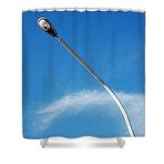 A Street Light Pole Shower Curtain