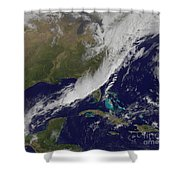 A Strong Cold Front Moving Shower Curtain