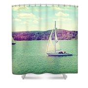 A Summer Sailing Adventure Shower Curtain